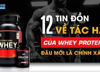 Top 12 tác hại khi dùng whey protein (bột protein) bị lầm tưởng nhiều nhất