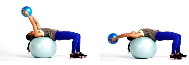Tập cơ bụng với Med Ball Throws