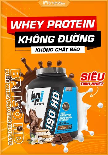 BPI ISO HD 5lbs (2.27kg) - 100% Pure Whey Protein Isolate, 3 Mùi