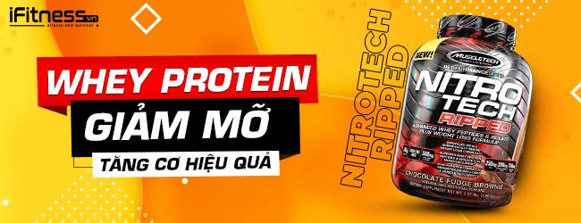 Sữa Tăng Cơ Giảm Mỡ NitroTech Ripped 1.8kg