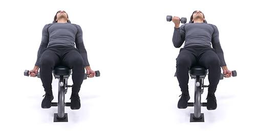 Alternating incline dumbbell biceps curl