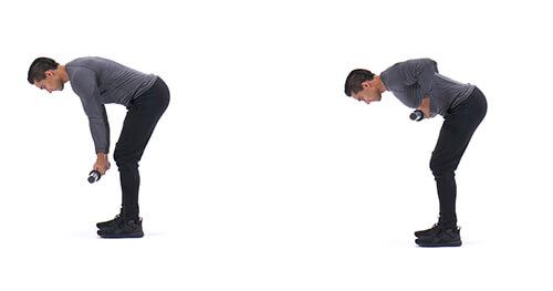 Reverse-grip bent-over row