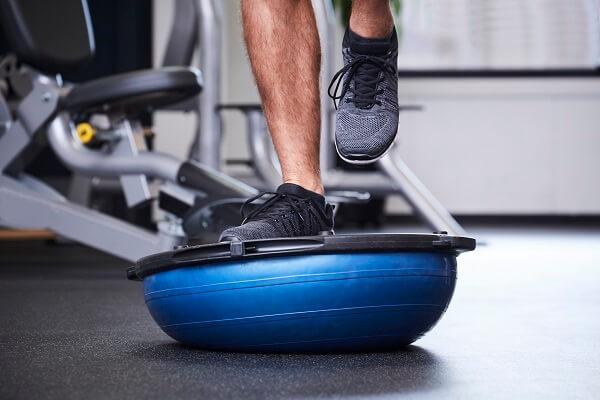 Single-Leg Balance on Bosu ball