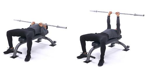 Bài tập cơ tay sau Close-grip bench press