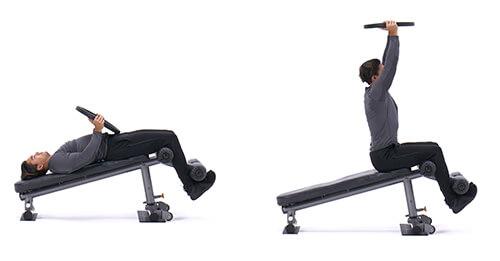 Bài tập bụng Decline Weighted Sit-Up