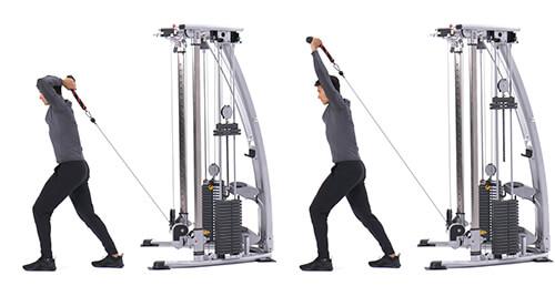 Bài tập cơ tam đâu Low cable overhead triceps extension