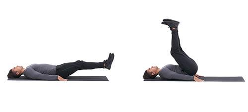 Bài tập bụng Lying Leg Raise