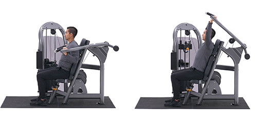 Bài tập vai Machine shoulder press