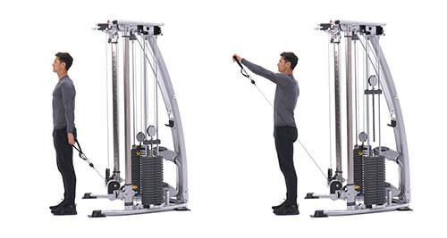 Bài tập vai Single-arm cable front raise