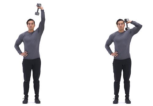 Bài tâp tay sau Single-arm dumbbell triceps extension